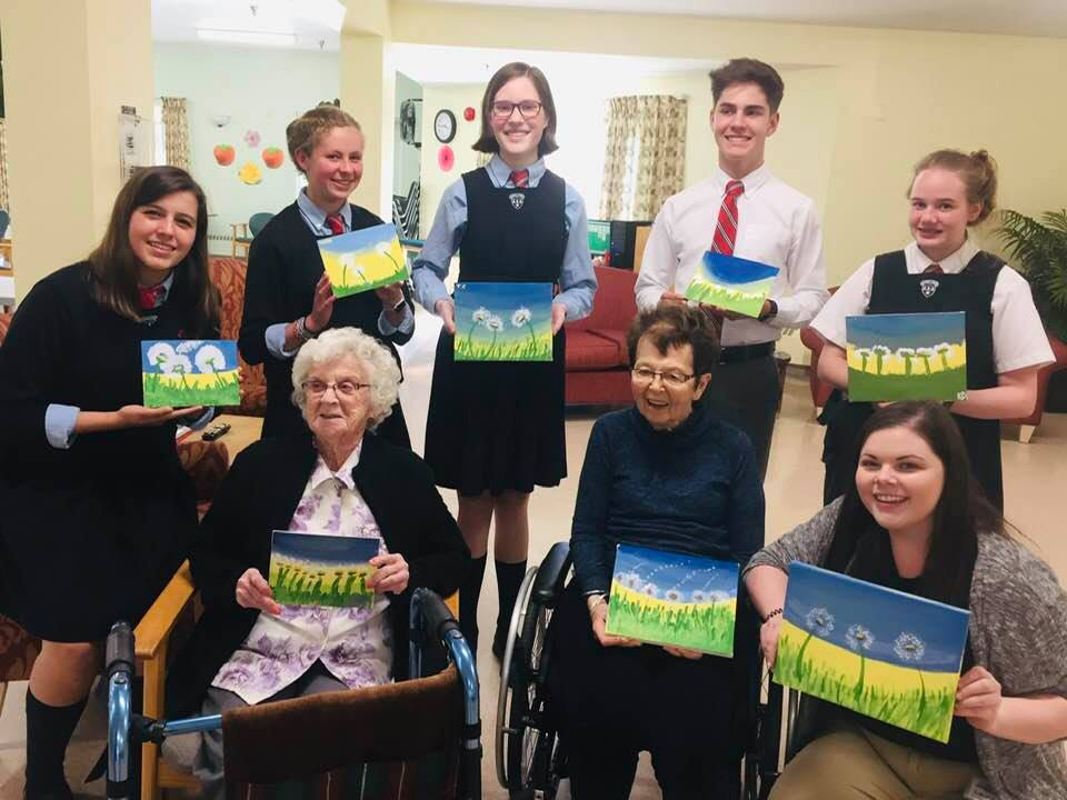 Paint Night with Kings Edgehill and our residents